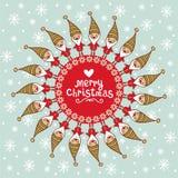 Jaskrawa kartka bożonarodzeniowa z tex tbox. Obrazy Stock