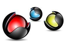 Jaskrawa kolor piłka Zdjęcie Royalty Free