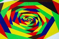 Jaskrawa kolorowa akrylowa ręka malujący graffiti Abstrakcjonistyczny tęcza wybuchu zawijasa skręta tło z teksturą Dla jaskrawego Obrazy Royalty Free