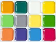 Jaskrawa kolorowa akwareli paleta Zdjęcia Royalty Free