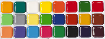 Jaskrawa kolorowa akwareli paleta Zdjęcie Stock