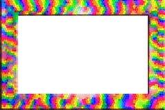 Jaskrawa kolorowa fotografii rama ilustracja wektor