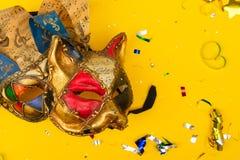 Jaskrawa kolorowa karnawału lub przyjęcia scena obrazy royalty free