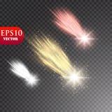 Jaskrawa kometa z spadająca gwiazda Jarzeniowy lekki skutek również zwrócić corel ilustracji wektora Obrazy Royalty Free