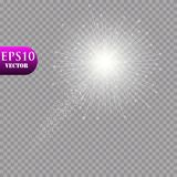 Jaskrawa kometa z spadająca gwiazda Jarzeniowy lekki skutek również zwrócić corel ilustracji wektora Zdjęcie Stock