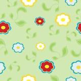 Jaskrawa kwiecista bezszwowa tekstura, niekończący się wzór z kwiatami Obrazy Stock
