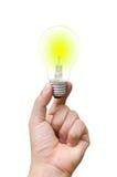 Jaskrawa lampa na ręce fotografia royalty free