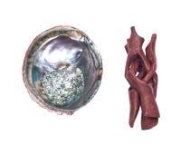 Jaskrawa okrzesana tęczy abalone skorupa Obrazy Stock