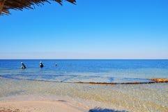 Jaskrawa plaży strona Fotografia Stock