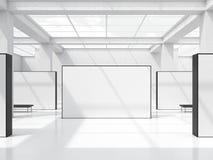 Jaskrawa powystawowa sala z okno w suficie świadczenia 3 d ilustracji