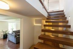 Jaskrawa przestrzeń - zaświecający up schodki zdjęcie stock