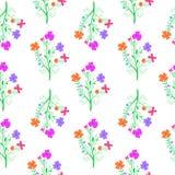 Jaskrawa ręka rysująca kwitnie na białym tle Zdjęcia Stock
