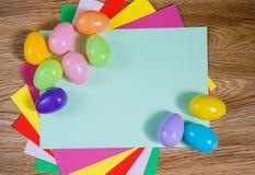 Jaskrawa rama dla Wielkanocnego tematu Obrazy Royalty Free