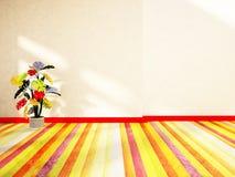 Jaskrawa roślina w różnych kolorach royalty ilustracja