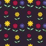 Jaskrawa tapeta z kwiatami Obrazy Royalty Free