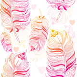 Jaskrawa tekstura z piórkami Obrazy Royalty Free