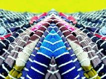 Jaskrawa tekstylna sztuka Obrazy Stock