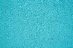 Jaskrawa turkusowa sztukateryjna tekstura T?o zdjęcia stock