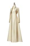 Jaskrawa wieczór suknia z bolerkiem na mannequin zdjęcie stock