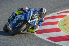 JASKRAWA wytrzymałości drużyna 24 godziny Catalunya Motorcycling Zdjęcie Royalty Free