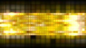 Jaskrawa złota błyszcząca kwadrat mozaiki wideo animacja ilustracja wektor