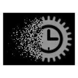 Jaskrawa Znika Pixelated Halftone czasu opcj ikona ilustracji