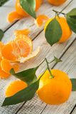 Jaskrawe świeże mandarynki Zdjęcie Stock