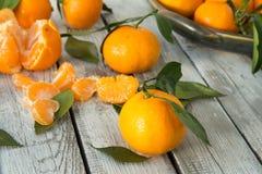 Jaskrawe świeże mandarynki Fotografia Stock