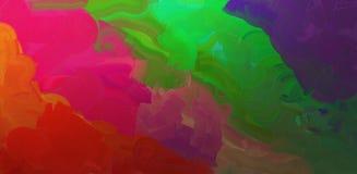 Jaskrawe akwareli plamy Fotografia Stock