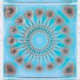 Jaskrawe błękitne dekoracyjne płytki obrazy stock