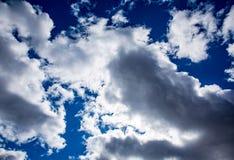 Jaskrawe chmury Fotografia Royalty Free