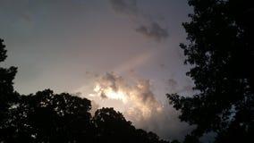 Jaskrawe chmury Obrazy Royalty Free