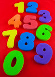 Jaskrawe colour liczby Zdjęcie Royalty Free
