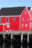 jaskrawe czerwone budynki Obraz Stock