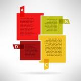 Jaskrawe infographic deski w prostym projekcie wektor Obrazy Royalty Free