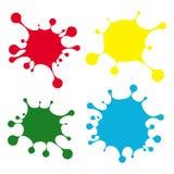 Jaskrawe kolor krople ilustracji