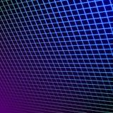 Jaskrawe neonowe siatek linie jarzy się tło z 80s stylem ilustracja wektor