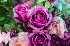 jaskrawe peonie, sztuczni kwiaty fotografia royalty free