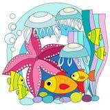 Jaskrawe ryba w wodzie Zdjęcia Royalty Free
