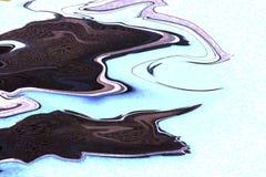 Jaskrawego bieżącego atramentu ciemni kolory na białym tle Nowożytny marmur, wielki projekt dla żadny zamierza Ciecz marmurowa te obraz stock
