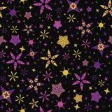 Jaskrawego Gwiaździstego nocnego nieba wektoru Bezszwowy wzór royalty ilustracja
