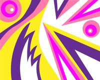 Jaskrawego koloru koloru żółtego menchii abstrakcjonistyczny zamazany deseniowy bez ilustracja wektor