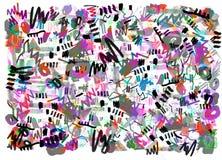 Jaskrawego koloru abstrakcjonistyczny obraz w Memphis stylu ilustracja wektor
