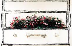 Jaskrawego koloru sztuczni kwiaty Fotografia Royalty Free