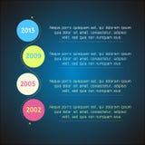 Jaskrawego linia czasu szablonu infographic stosowny dla Fotografia Royalty Free