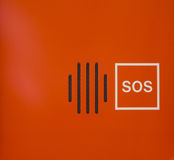 Jaskrawego Pomarańczowego abstrakta SOS nagłego wypadku kontrakta Głośnikowy przyrząd Obraz Royalty Free