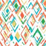 Jaskrawego rhombus bezszwowy wzór Zdjęcie Royalty Free