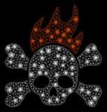 Jaskrawego siatki ścierwa Śmiertelny ogień z raców punktami ilustracja wektor