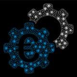 Jaskrawego siatki ścierwa Euro Przemysłowy z Błyskowymi punktami ilustracji
