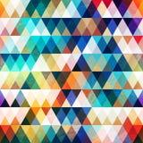 Jaskrawego trójboka bezszwowy wzór z grunge skutkiem ilustracji